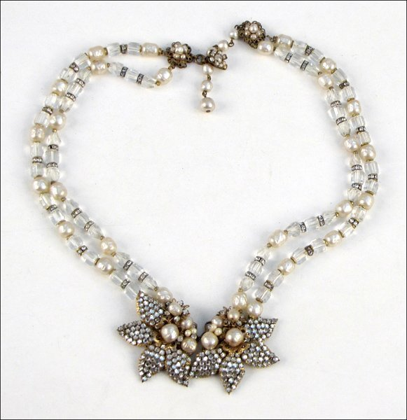 837023: MIRIAM HASKELL TWO-STRAND NECKLACE.