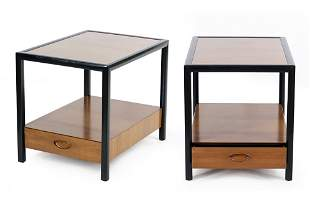 A Pair of Michael Taylor for Baker End Tables.