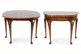 A Pair of Queen Anne Style Flip Top Tables.