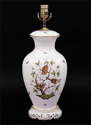 A Herend Porcelain Table Lamp.