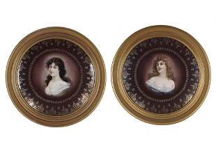 A Pair of Royal Vienna Porcelain Plates.