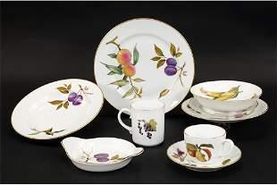 A Set of Royal Worcester Evesham China.