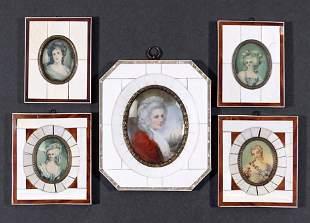 A Collection of Portrait Miniatures.