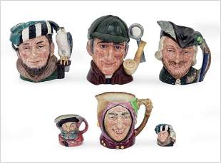 A Collection of Royal Doulton Toby Jugs.