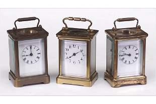 Three Carriage Clocks.
