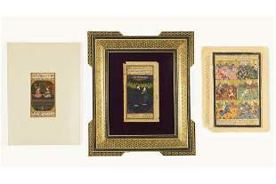 Three Indian Miniatures (19th Century).