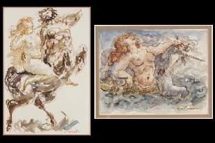 Charles Burdick (American, 1924-2016) Two Works.
