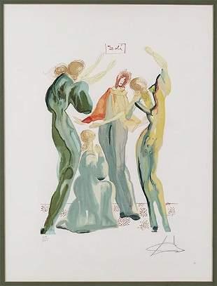 Salvador Dali (Spanish, 1904-1989) Dante et les
