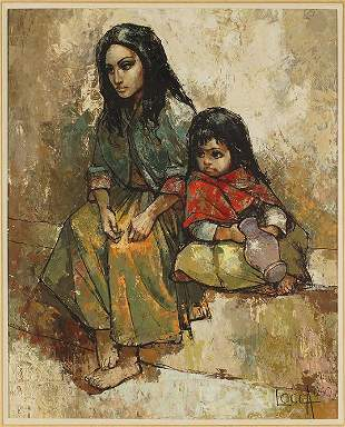 Bernard Locca (French, 1926-1997) Mother and Child.