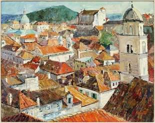 Franciszek Kmita (Polish, 1926-2013) Dubrovnik - Dachy.