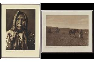 Edward Curtis (American, 1868-1952) Two Photogravures.