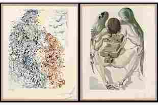 Salvador Dali (Spanish, 1904-1989) Two Works: The