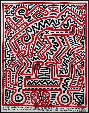 Keith Haring (American, 1958-1990) Keith Haring at Fun