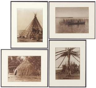 Edward S. Curtis (American, 1868-1952) Four Works.