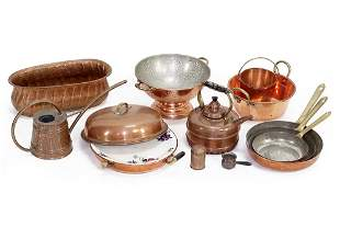 A Collection of Copper Household Items.