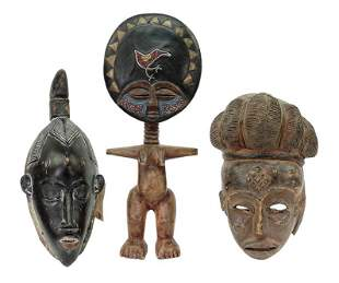 Two African Carved Wood Masks.