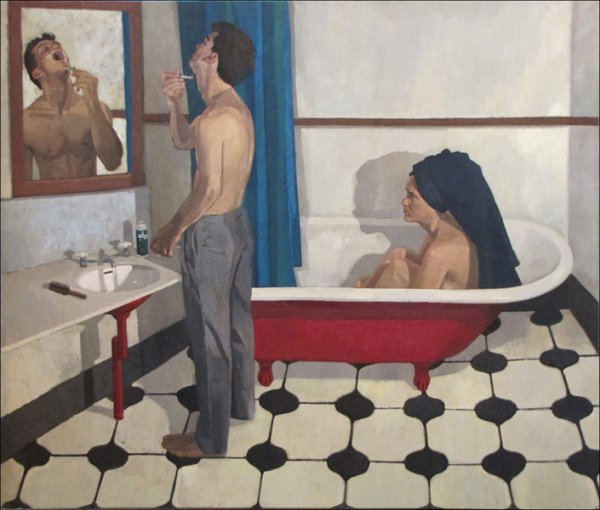 846018: JANE FISHER (AMERICAN, B.1961) SHAVING WITH EDG