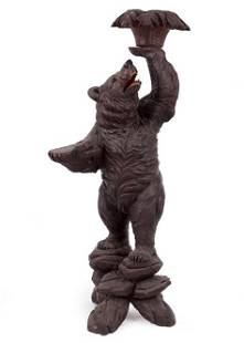 A Black Forest Carved Wood Standing Bear.