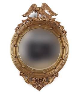 Federal Style Giltwood Convex Mirror.