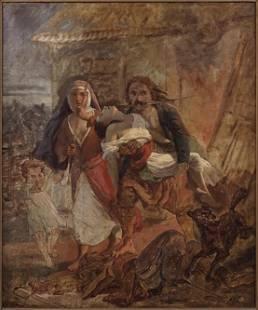 After Eugene Delacroix (French, 1798-1863) Sketch for