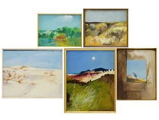 William Hoey (American, 1930-1994) Five Oil Paintings.