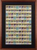 A 1999 Framed Pokemon Fossil Uncut Sheet.