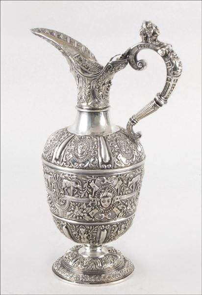 854031: 19TH CENTURY ENGLISH STERLING SILVER CLARET JUG