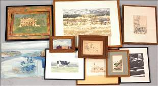 856099 GROUP OF ASSORTED FRAMED 20TH CENTURY PRINTS P