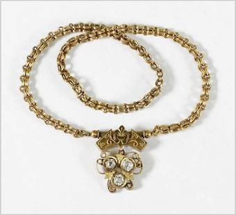 A Victorian Goldfilled Necklace.