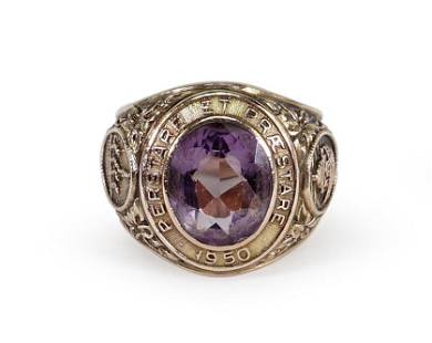 A New York University Class of 1950 Ring.