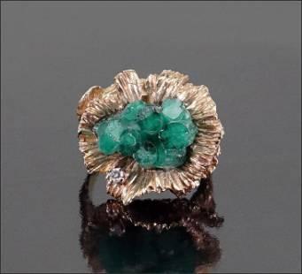 An Emerald Ring.