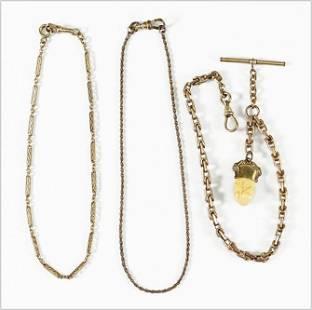 Three Goldfilled Watch Chains.