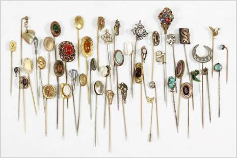 A Collection of Stick Pins.