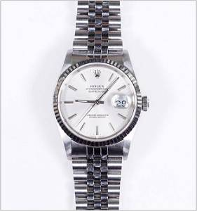 A Gentleman's Rolex Stainless Steel Oyster Perpetual