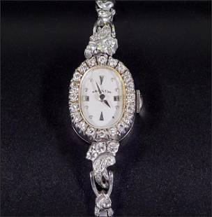 A Hamilton Diamond Watch.