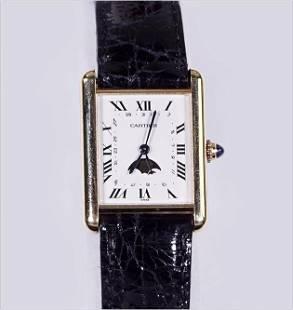 A Cartier Tank Watch.