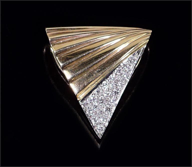 A Gold & Diamond Slide / Pendant.