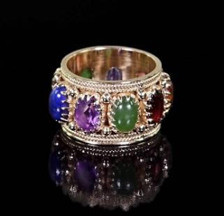 A Semi-Precious Stone Ring.