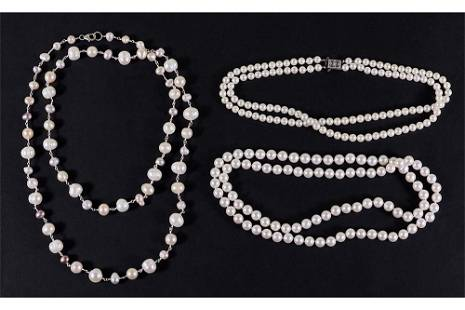 Three Pearl Necklaces.