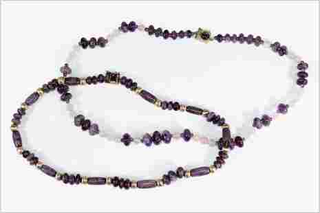 Two Amethyst NEcklaces.