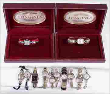 A Collection of Ladies Goldfilled Watches.