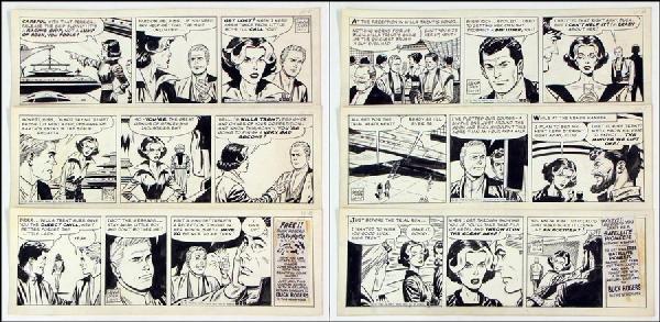 442001: GEORGE TUSKA BUCK ROGERS DAILY COMIC STRIP ORIG