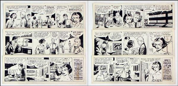442002: GEORGE TUSKA BUCK ROGERS DAILY COMIC STRIP ORIG