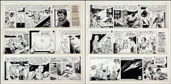 442003: GEORGE TUSKA BUCK ROGERS DAILY COMIC STRIP ORIG