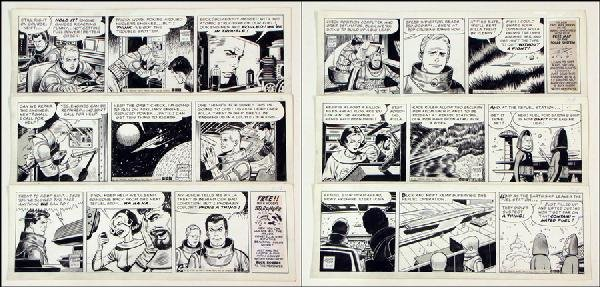 442004: GEORGE TUSKA BUCK ROGERS DAILY COMIC STRIP ORIG