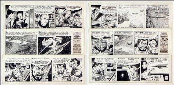 442005: GEORGE TUSKA BUCK ROGERS DAILY COMIC STRIP ORIG