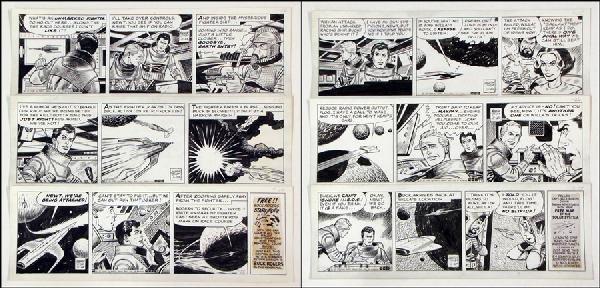 442006: GEORGE TUSKA BUCK ROGERS DAILY COMIC STRIP ORIG