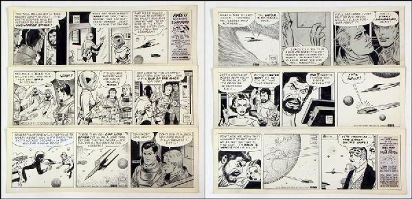 442007: GEORGE TUSKA BUCK ROGERS DAILY COMIC STRIP ORIG