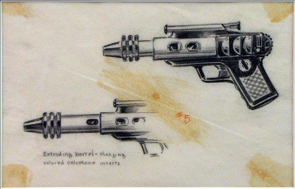 442018: BUCK ROGERS PROTOTYPE GUN DRAWING #5 FOR THE DA