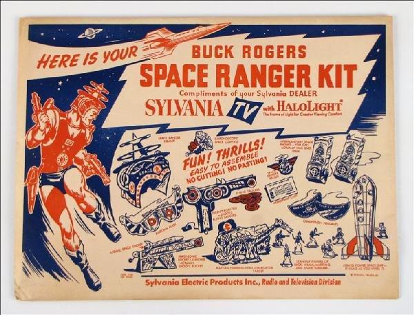442023: SYLVANIA BUCK ROGERS SPACE RANGER KIT.